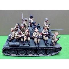 Infantry tank riders