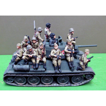 Infantry tank riders