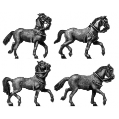 Heavy cavalry horse, trotting