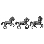 Heavy horse leaping