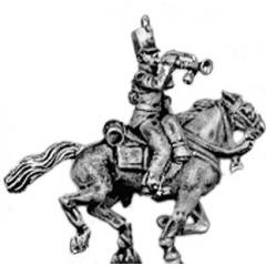 Dragoon trumpeter, watering cap, overalls