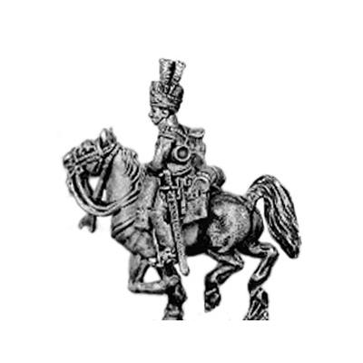 Dragoon trumpeter, in turban