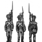 Belgian Line Infantry, centre company, marching