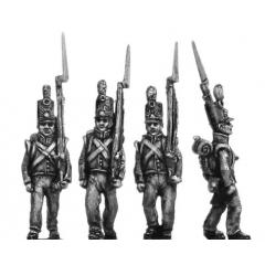 Dutch militia, flank, marching