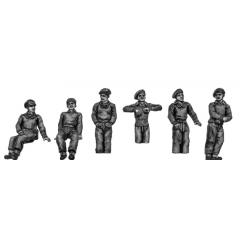 British tank crew in pullovers