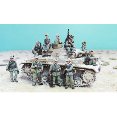German DAK casual infantry