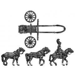 Horse artillery small caisson (Troika) team