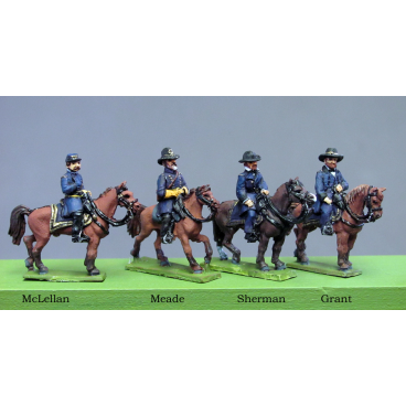 Union Generals (Meade, McLellan, Grant, Sherman)
