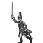 German fusilier officer, helmet, advancing