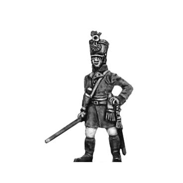 German fusilier officer, shako, standing