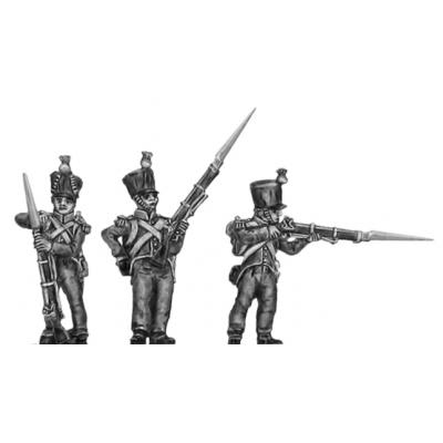 2nd Nassau- Usingen Voltigeur, firing and loading