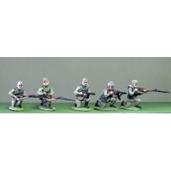 Soviets in caps, kneeling