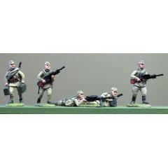 Caps, DP LMG crews moving and firing