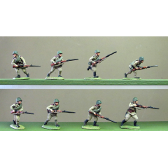 Helmets, rifles advancing