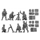 82mm mortar set ( 2 mortars, 6 crew, ammo boxes )