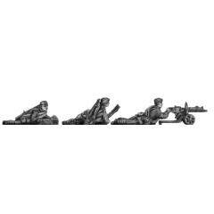 Maxim gun team, caps, firing