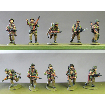 Infantry section, windproofs, advancing