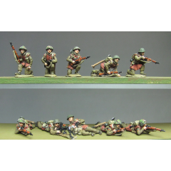 Infantry section, jerkins, kneeling and prone