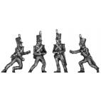 Foot Artillery, crew, moving gun