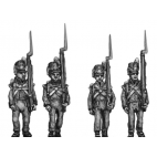 Flank Company, marching, shoulder arms