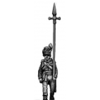 Centre Company sergeant, marching with pike