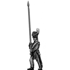 Ensign marching, bare pole