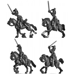 British Household Cavalry Troopers charging