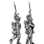 German fusilier, helmet, marching, shoulder arms