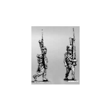 Carabinier, early shako, hussar gaiters