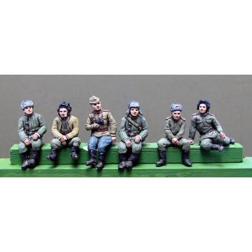 Tank crew seated variants