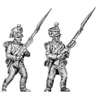 Fusilier, lozenge plate, cords on shako, advancing