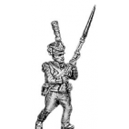 Grenadier, lozenge plate, shako cords and plume, advancing