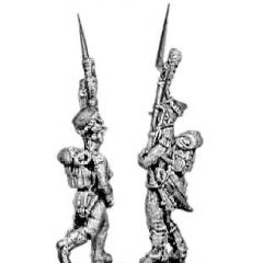 Carabinier, shako, march attack
