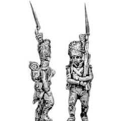 Carabinier, bearskin, march attack