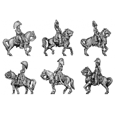 Six mounted marshals and generals