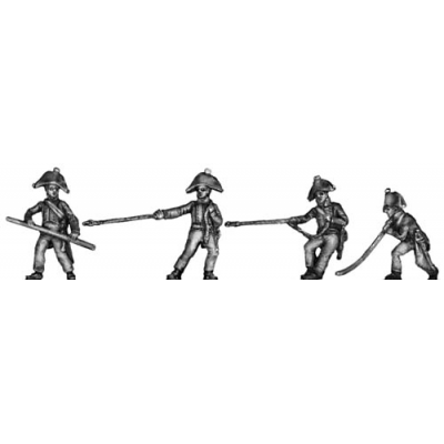 Foot artillery crewman, relaying