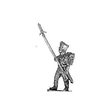 Colour guard sergeant, with spontoons