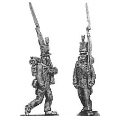 Reserve infantry, marching, English uniform