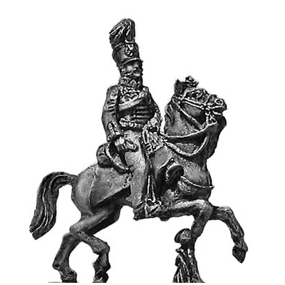 Prussian ADC Officer in Hussar uniform