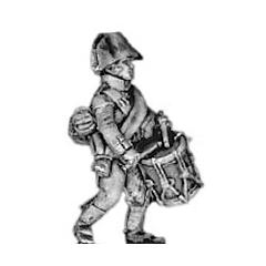 Musketeer drummer, bicorne