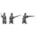 Musketeer, shako, greatcoat, skirmishing