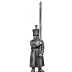 Musketeer standard bearer, shako, greatcoat