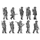 Infantry squad, walking