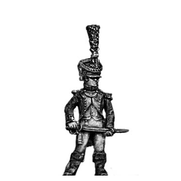 Young Guard Voltigeur Officer, 1810 uniform