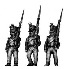 Young Guard, 1814 uniform, marching