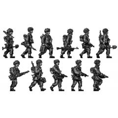 Airborne squad walking