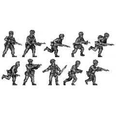 Airborne squad advancing