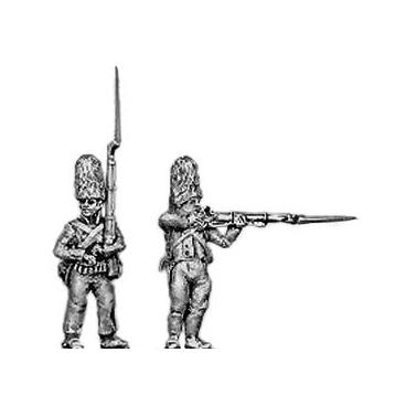 Grenadier, fur cap, firing and loading