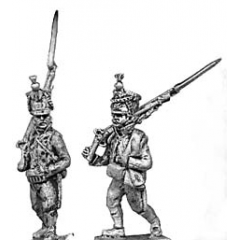Line infantry, shako, marching