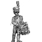 Light infantry drummer, shako